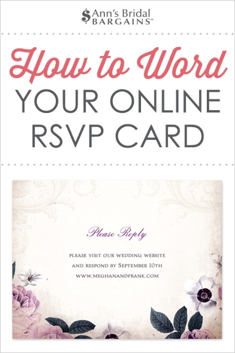 response card wording examples for online rsvps 7581ml
