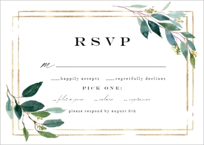 response and rsvp cards