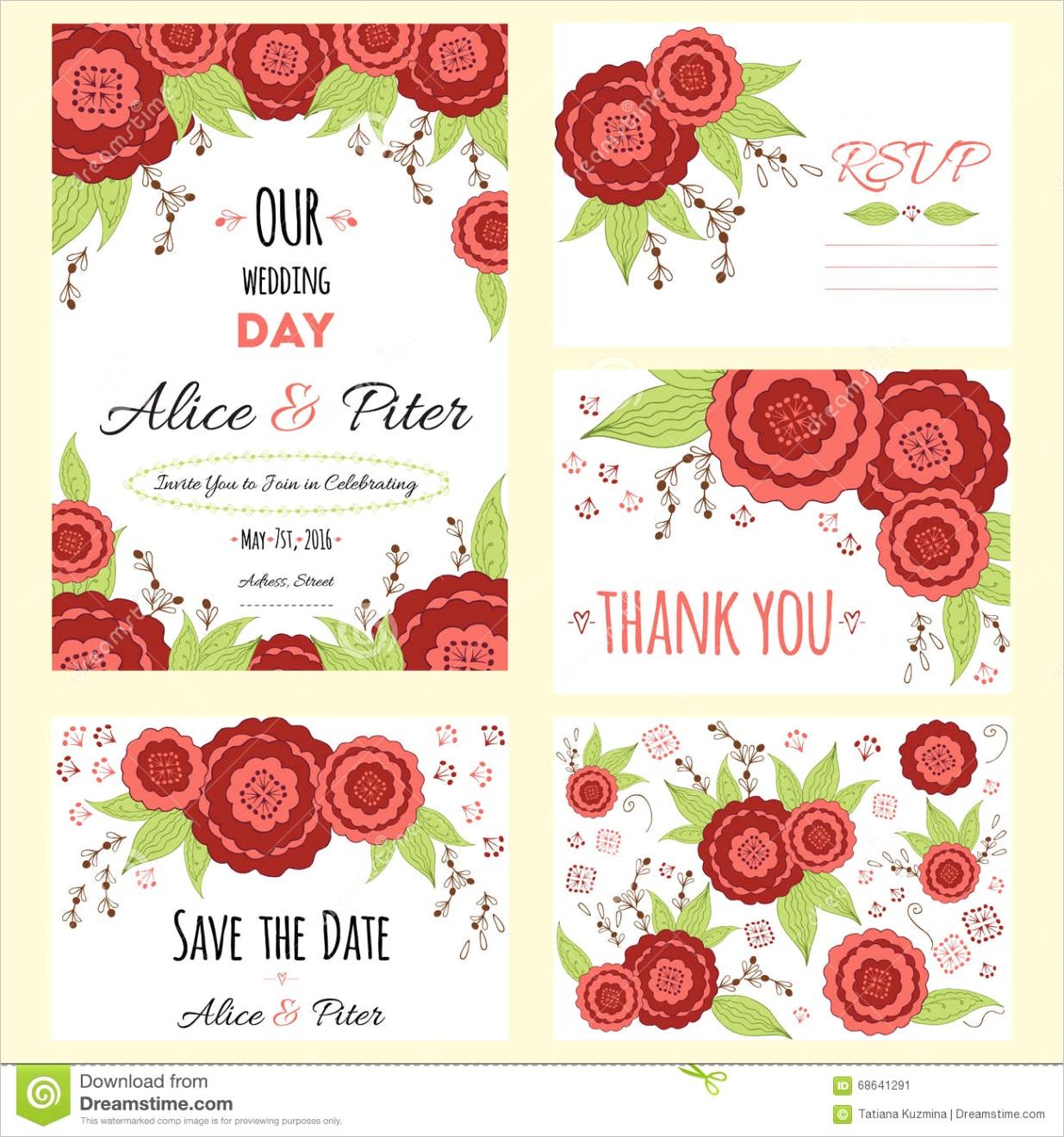 stock illustration wedding invitation thank you card save date cards wedding set rsvp card template envelope marriage event valentine image
