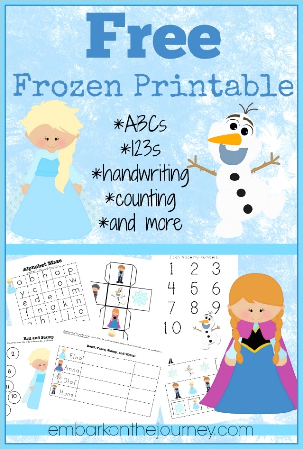 free frozen printable pack