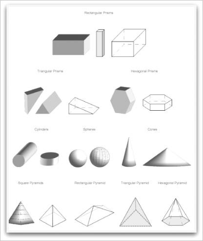 geometric shapes to printml