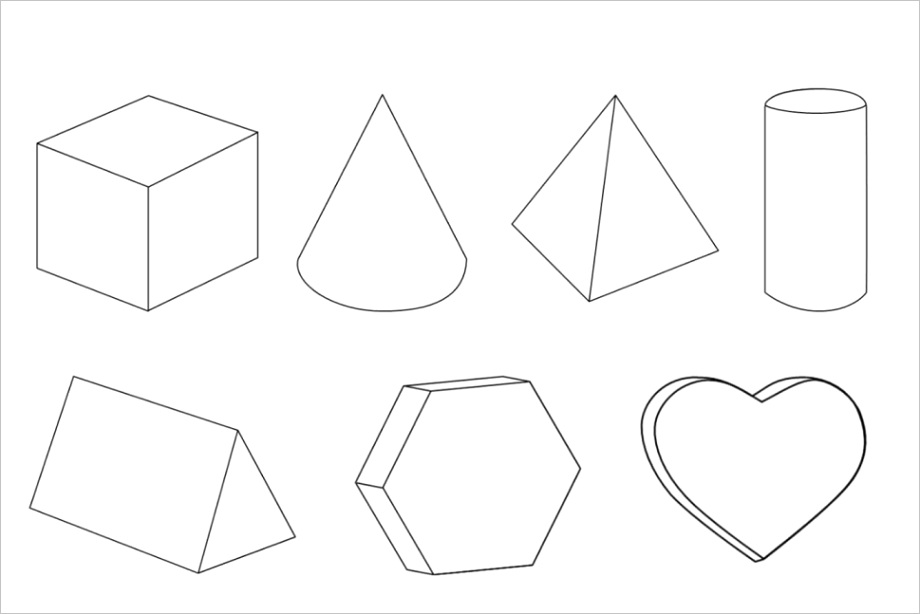 shapes coloring pagesml