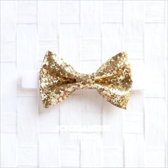 sparkle glitter gold bow tie pet bow tie