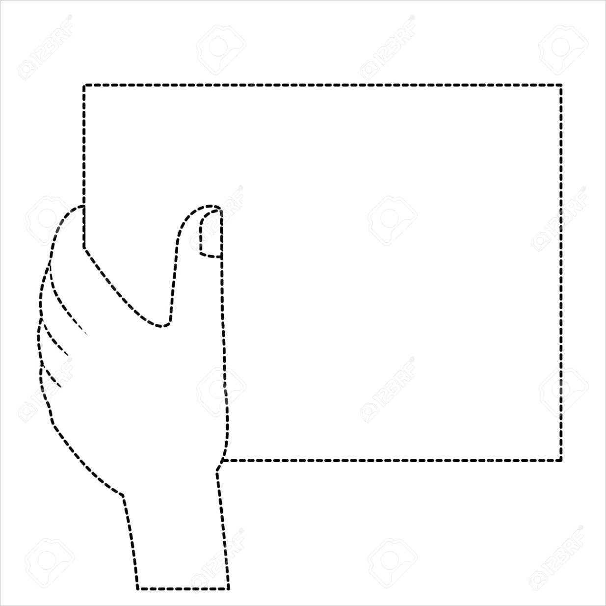 blank hand outline choose from overml