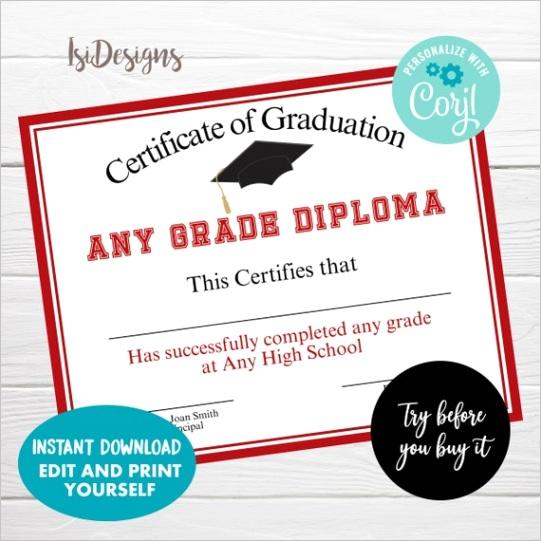 editable achievement certificate