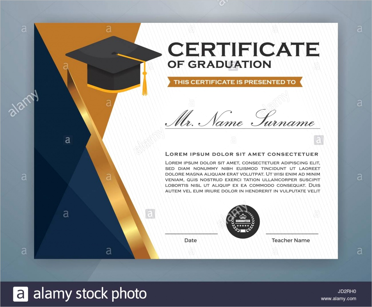 stock photo high school diploma certificate template design with graduate cap ml