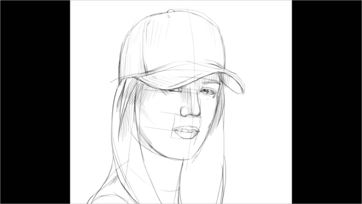 baseball hat drawing