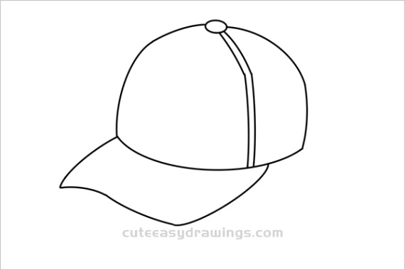 How to Draw a Baseball Cap Tutorial Easy for Kids 1779ml