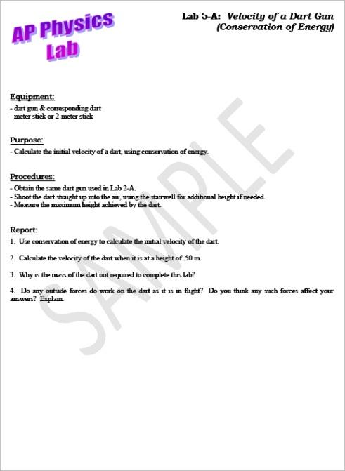 informal lab report