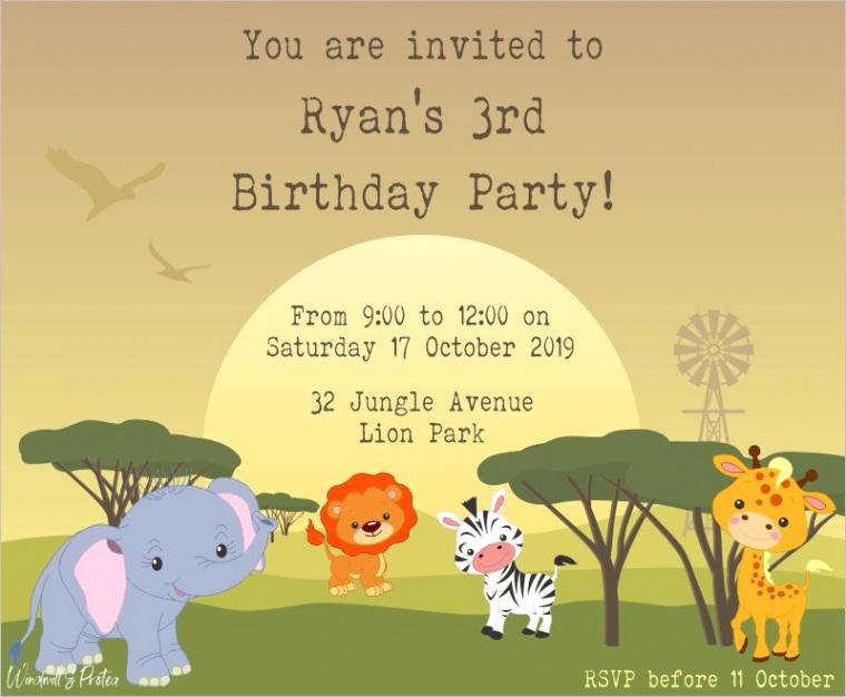 wild animals party