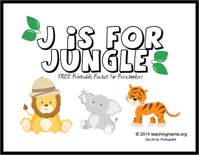j jungle letter j printables