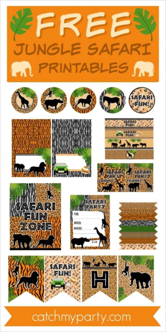 blog these free jungle safari printables now