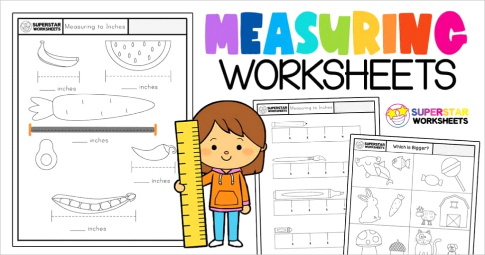 kindergarten measurement worksheets