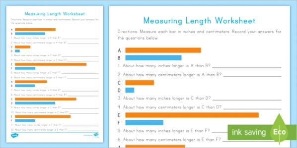 us n 277 measuring length activity sheet