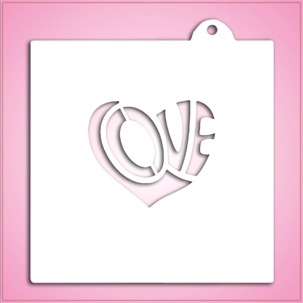 love heart stencil