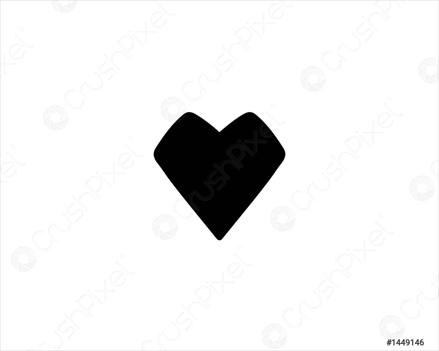love heart symbol logo templates ml