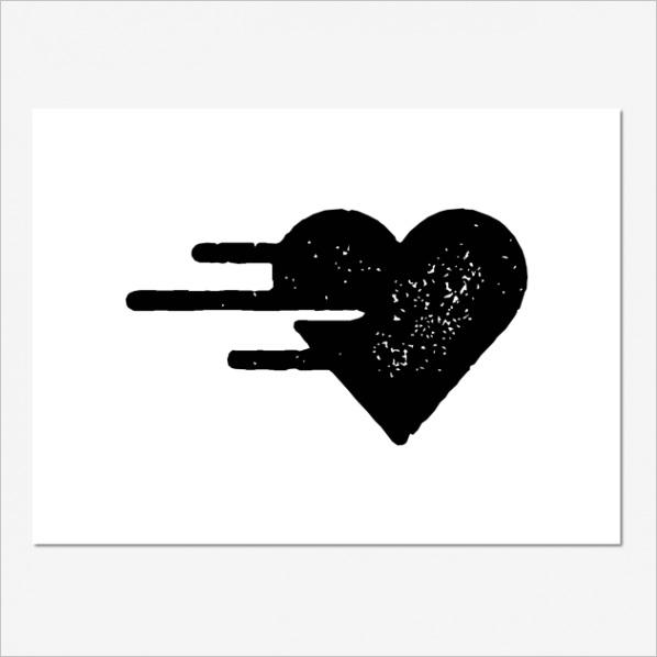 racing heart stencil
