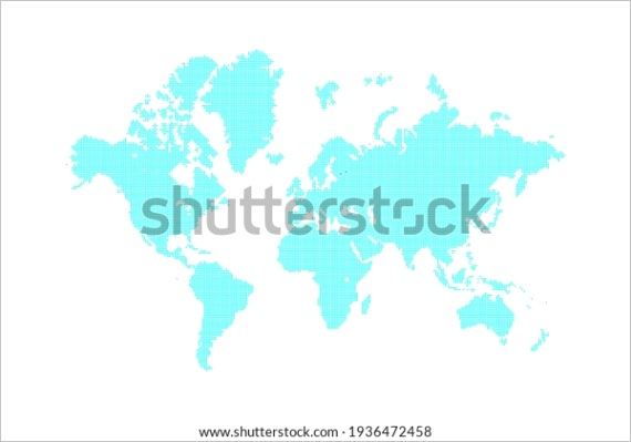 mosaic dotted blank world global map