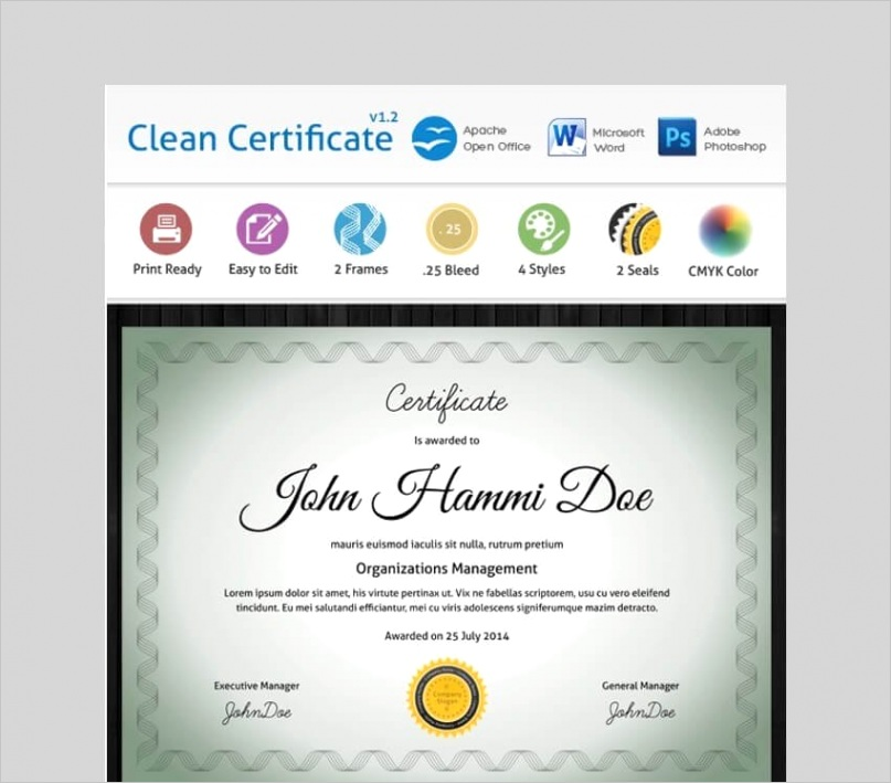 free microsoft word certificate templates cms