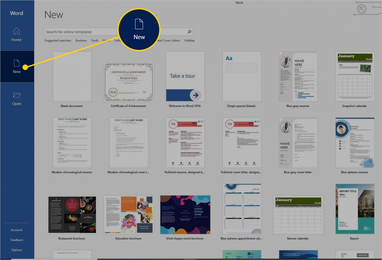 set up new document certificate template