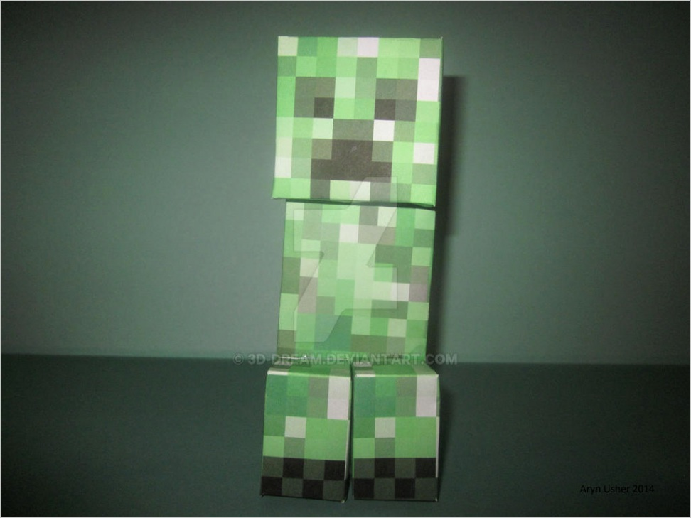 Papercraft Minecraft Creeper