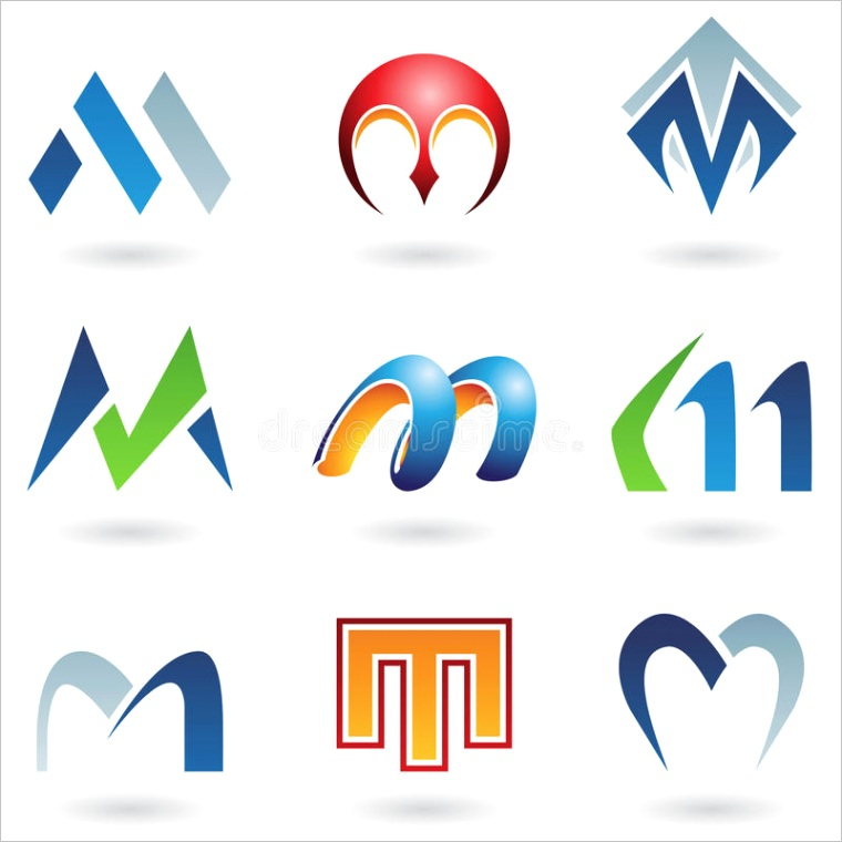 royalty free stock images abstract icons letter m image