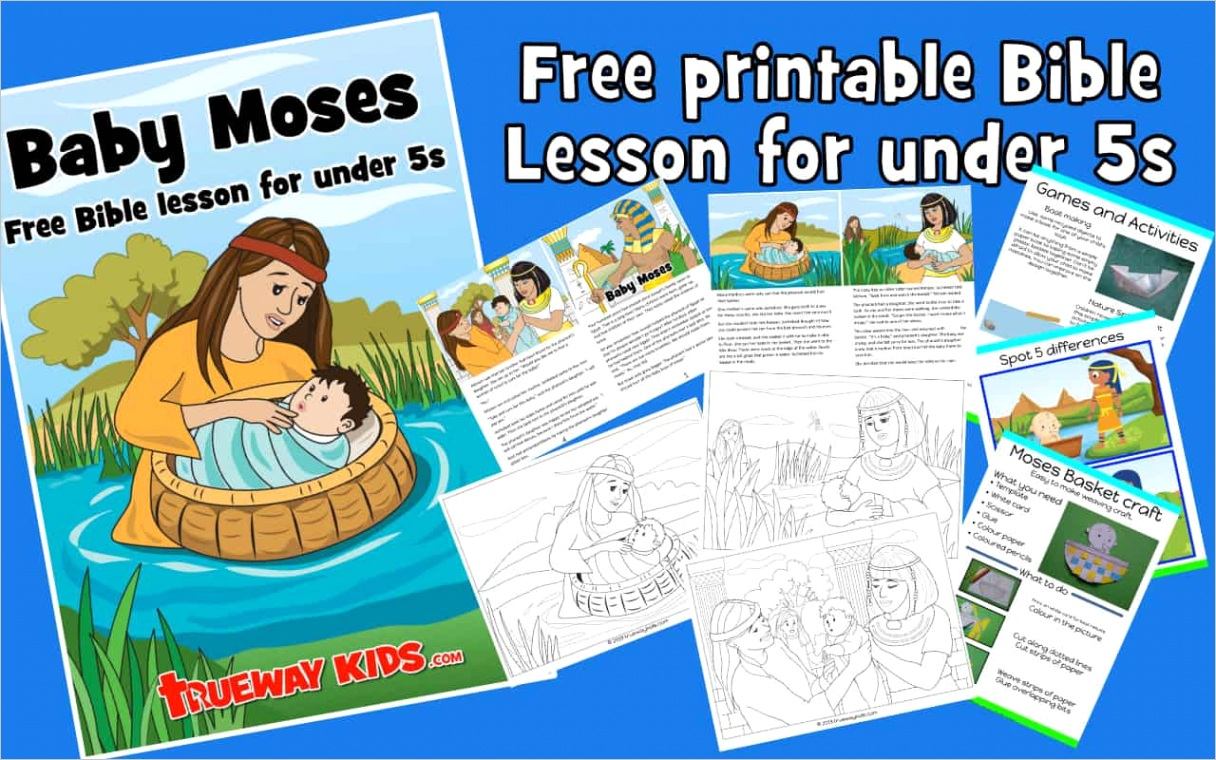 baby moses bible lesson