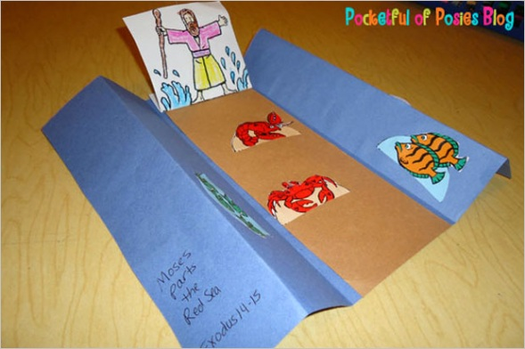 sunday school crafts moses and the parting of the red sea