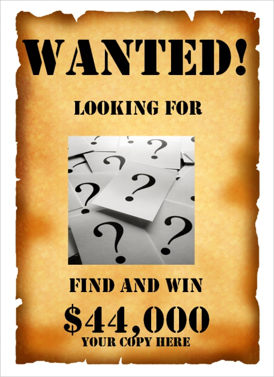 post wanted poster templates psd