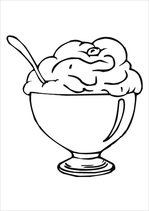 ice cream sunday outlines
