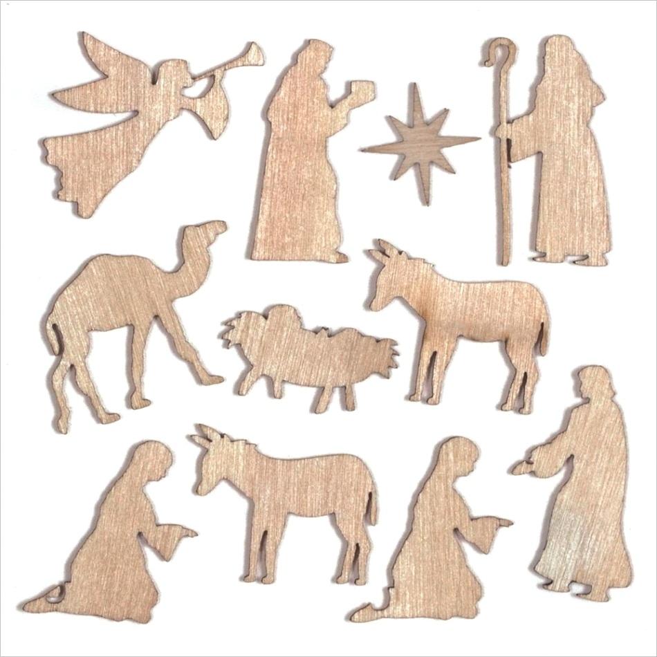 nativity mini wooden shapes 1