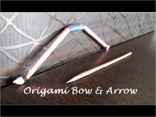 origami how to make a mini paper bow arrow