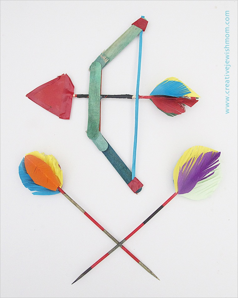 popsicle stick bow with skewer arrowsml