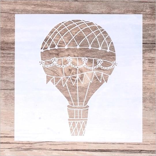 hot air balloon stencil decore stencil