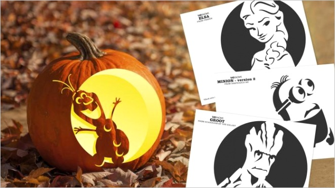 pumpkin carving templates from frozen and other kids movies