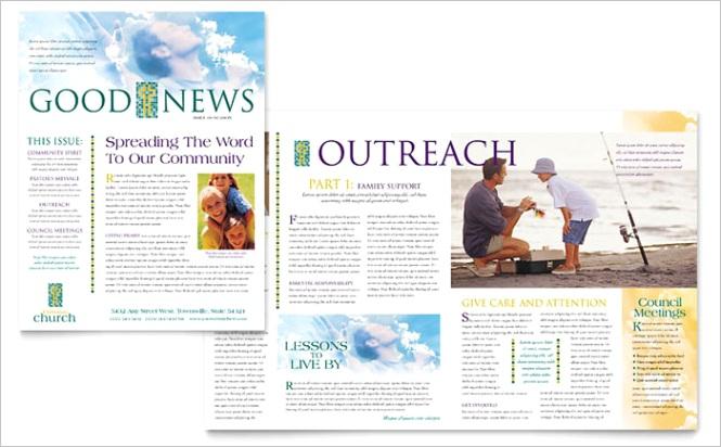 Christian Church Newsletter Templates RO Dx