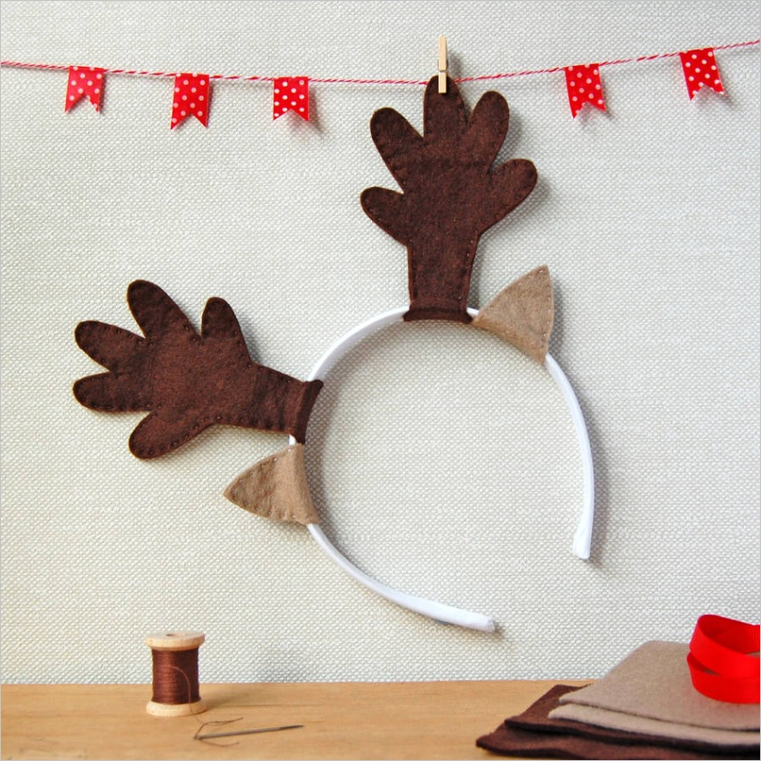 make your own reindeer antlers craft kit