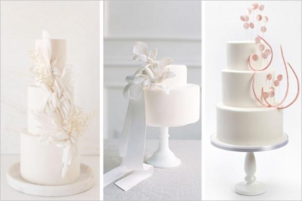white wedding cakes trend