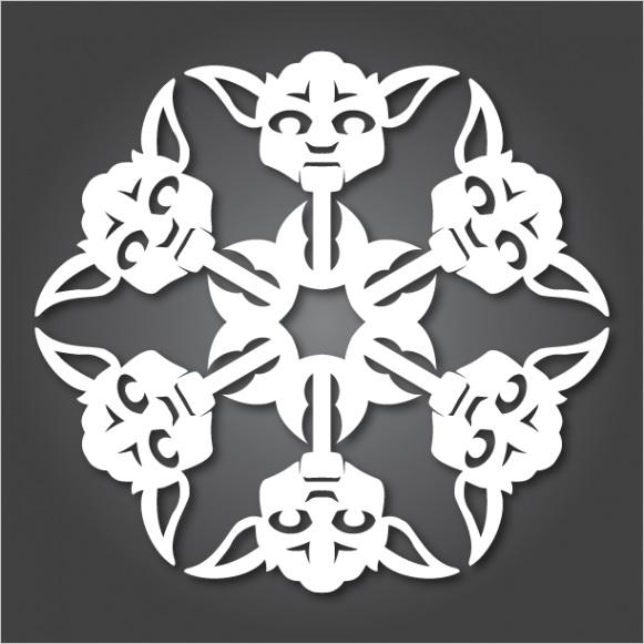 its snowing star wars 10 new diy star wars paper snowflake templates