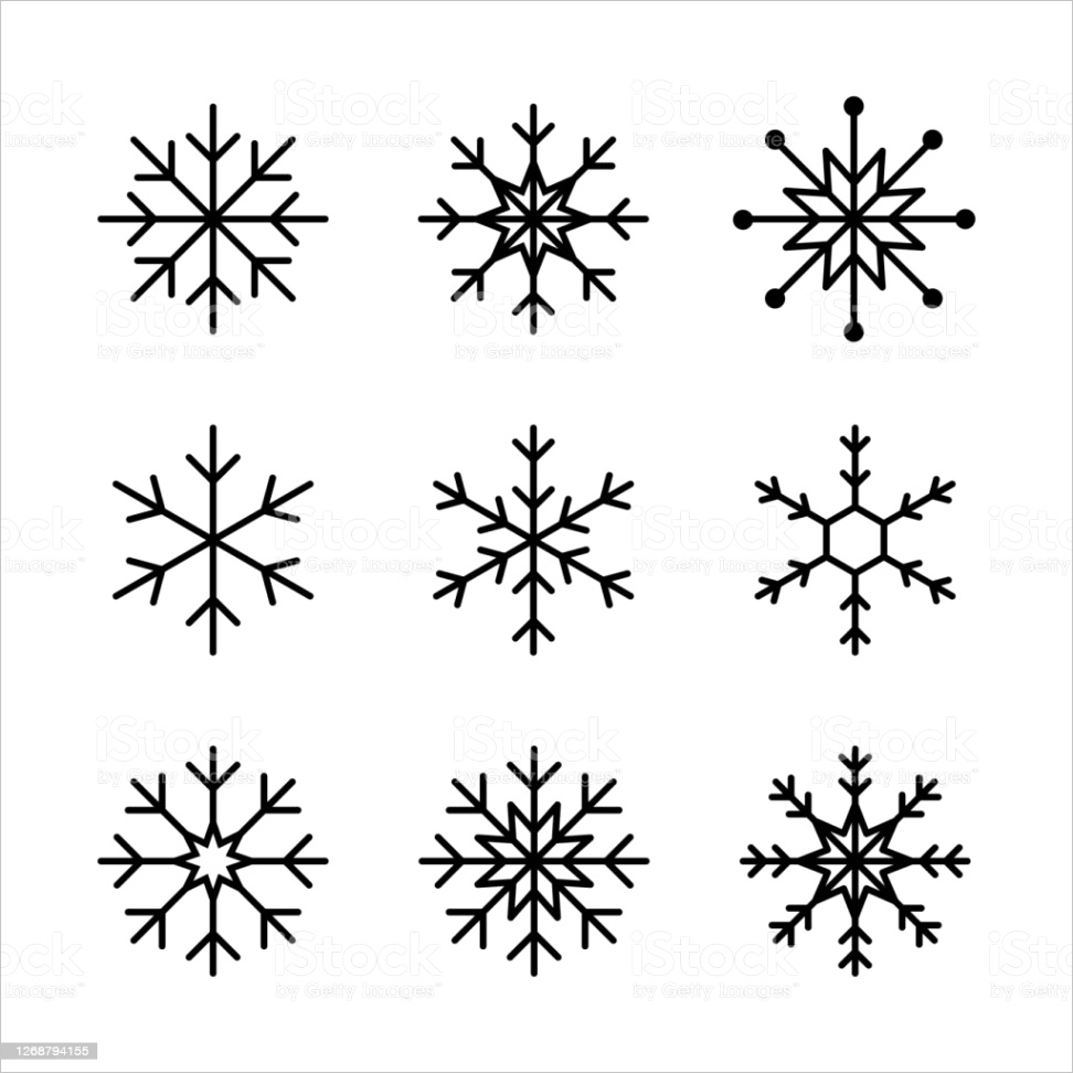 snowflake line icon vector isolated elements set of vector isolated line snowflake gm
