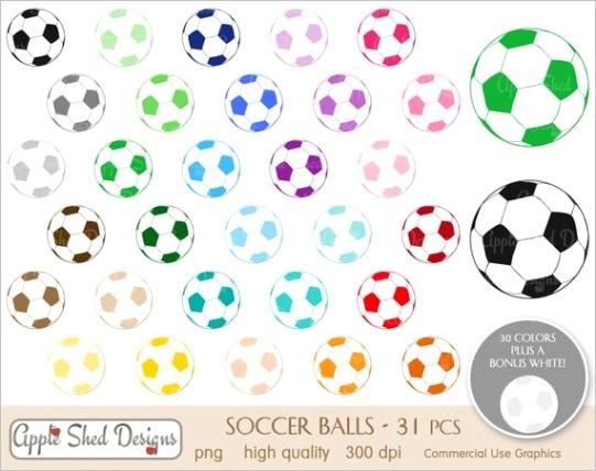 soccer balls clipart 31 qty planner