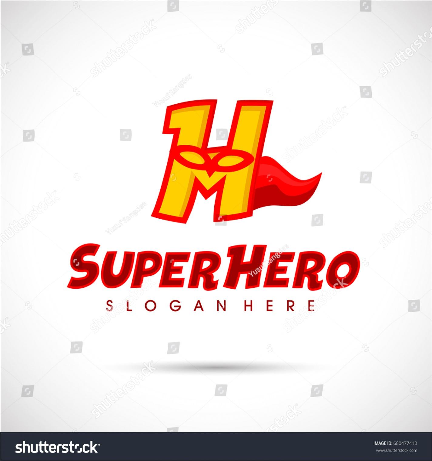 superhero logo template letter h mask