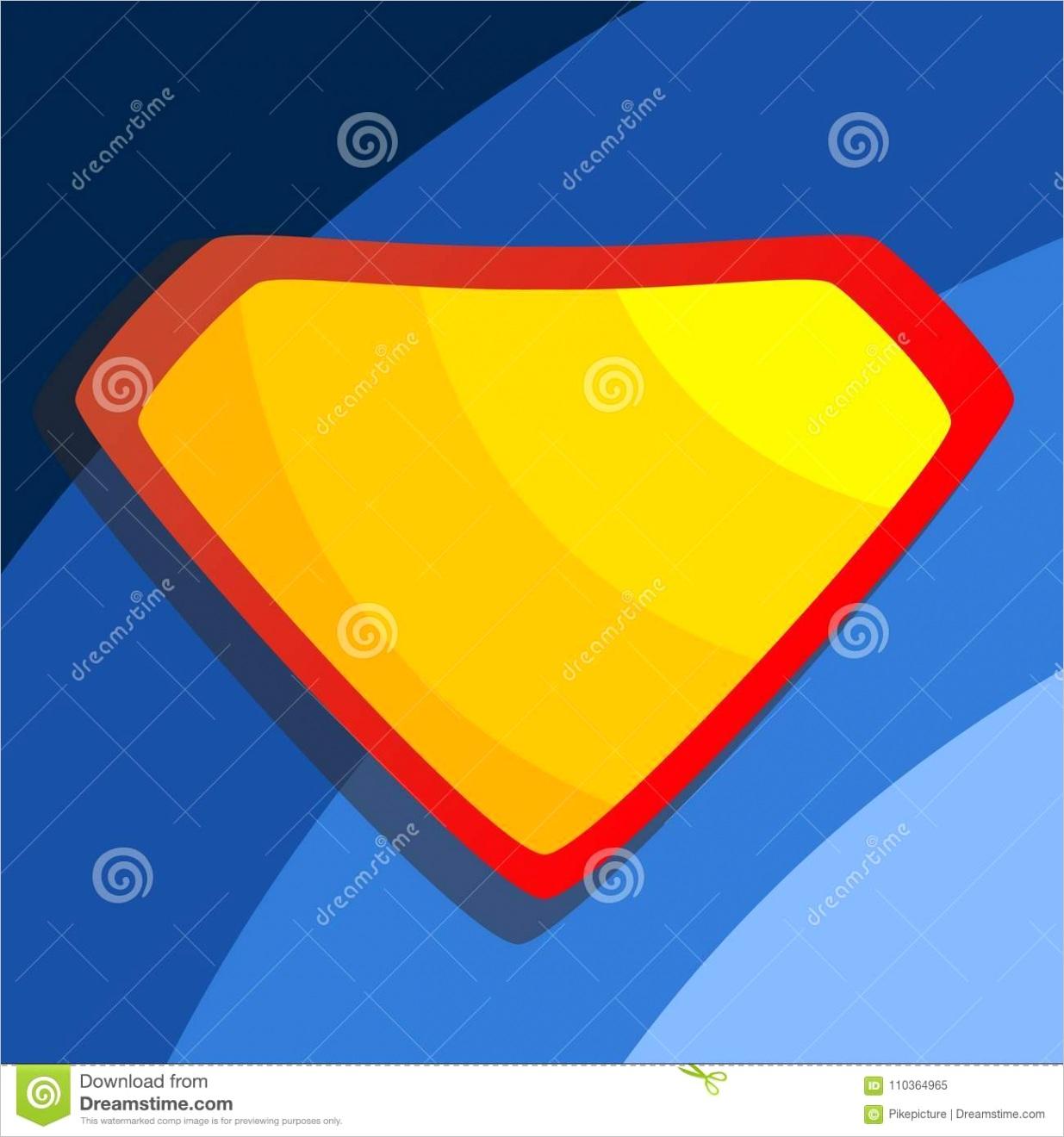 superhero logo vector yellow red shield emblem template flat cartoon ic illustration diamond symbol shape badge super powers image