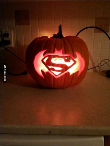 batman vs superman pumpkin carving sc=halloween