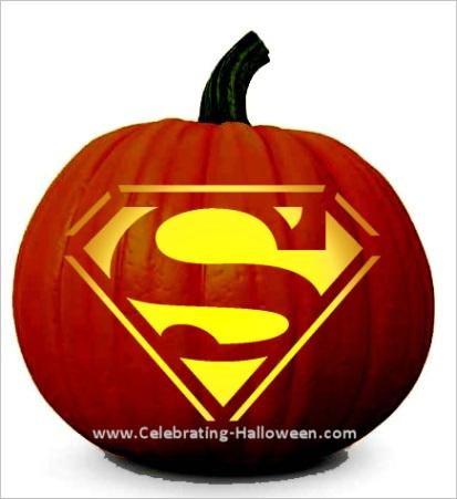 superman pumpkin carving stenciltml