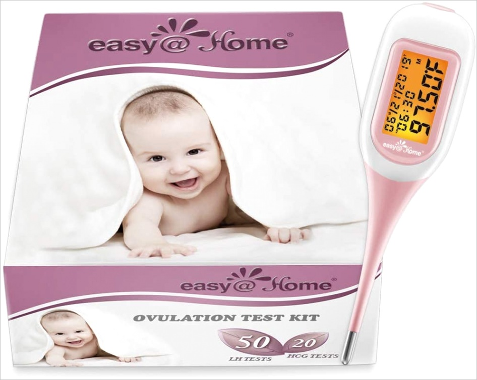 easy home ovulation test bo kit50lh 20hcg strips and ebt 300 smart basal thermometer 1