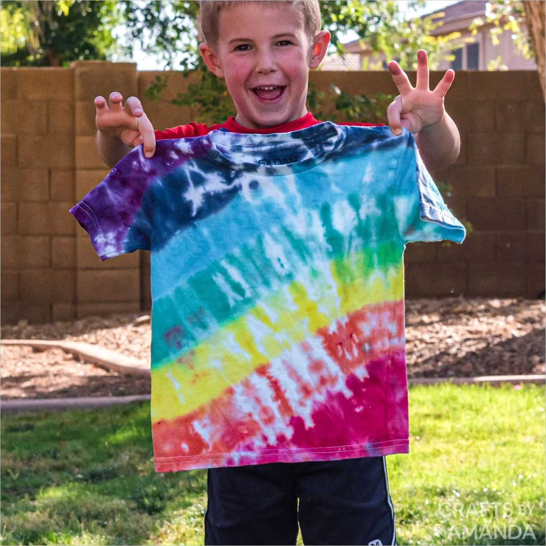 rainbow tie dye shirts