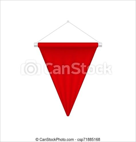 realistic red pennant template triangle ml