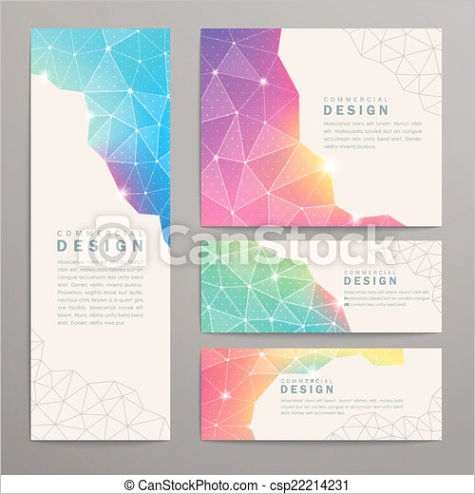 triangle pattern banner template ml