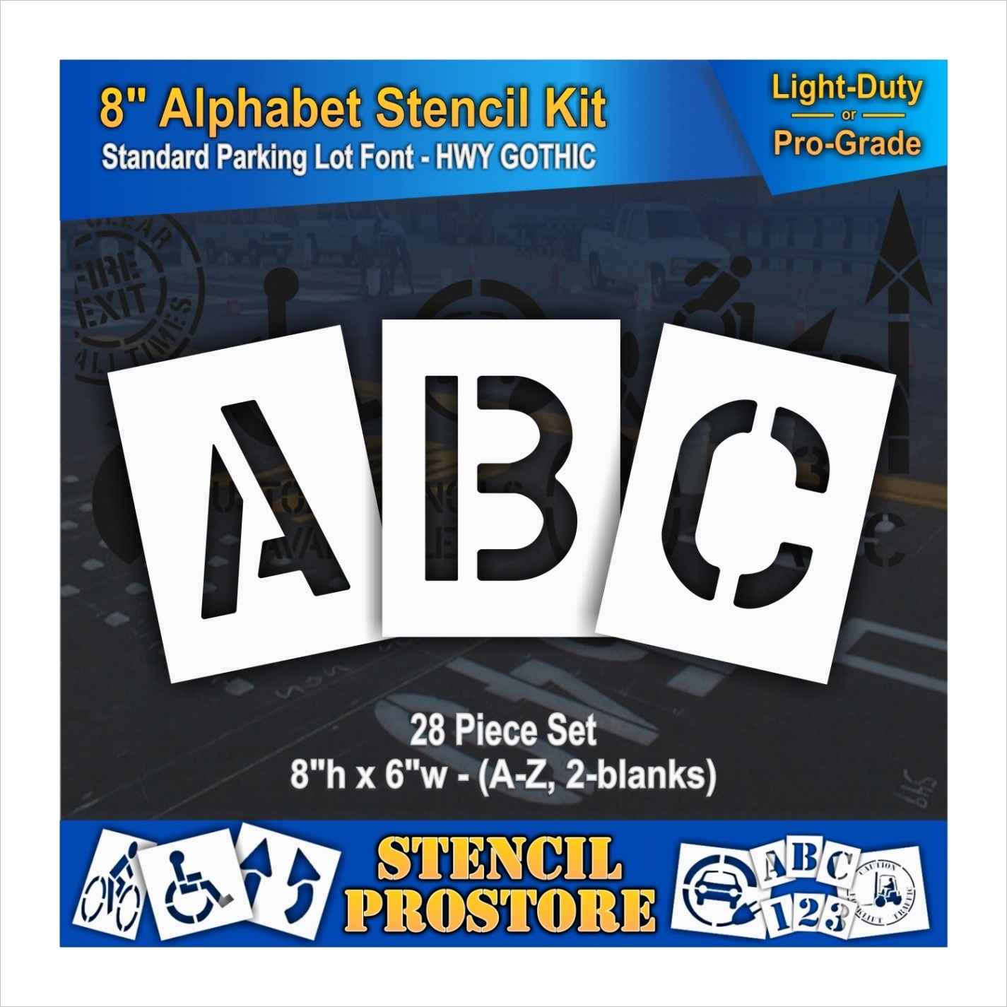 8 inch alphabet marking paint stencil kit store=spanish& from store=english